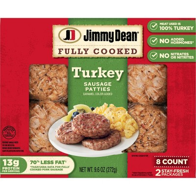 Jimmy Dean Fully Cooked Turkey Sausage Patties - 9.6oz/8ct
