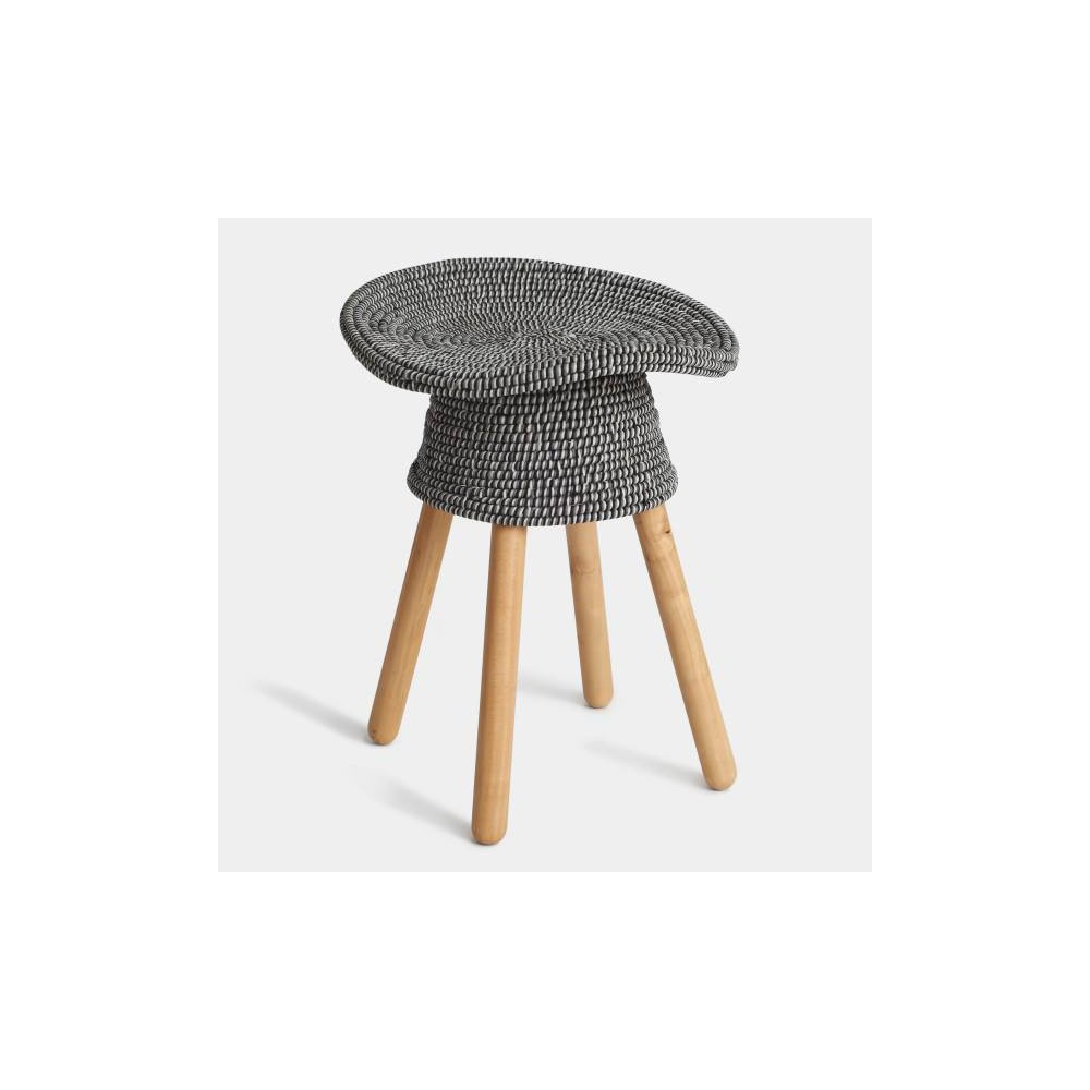 "Image of ""20.75"""" Coiled Stool Gray - Umbra"""