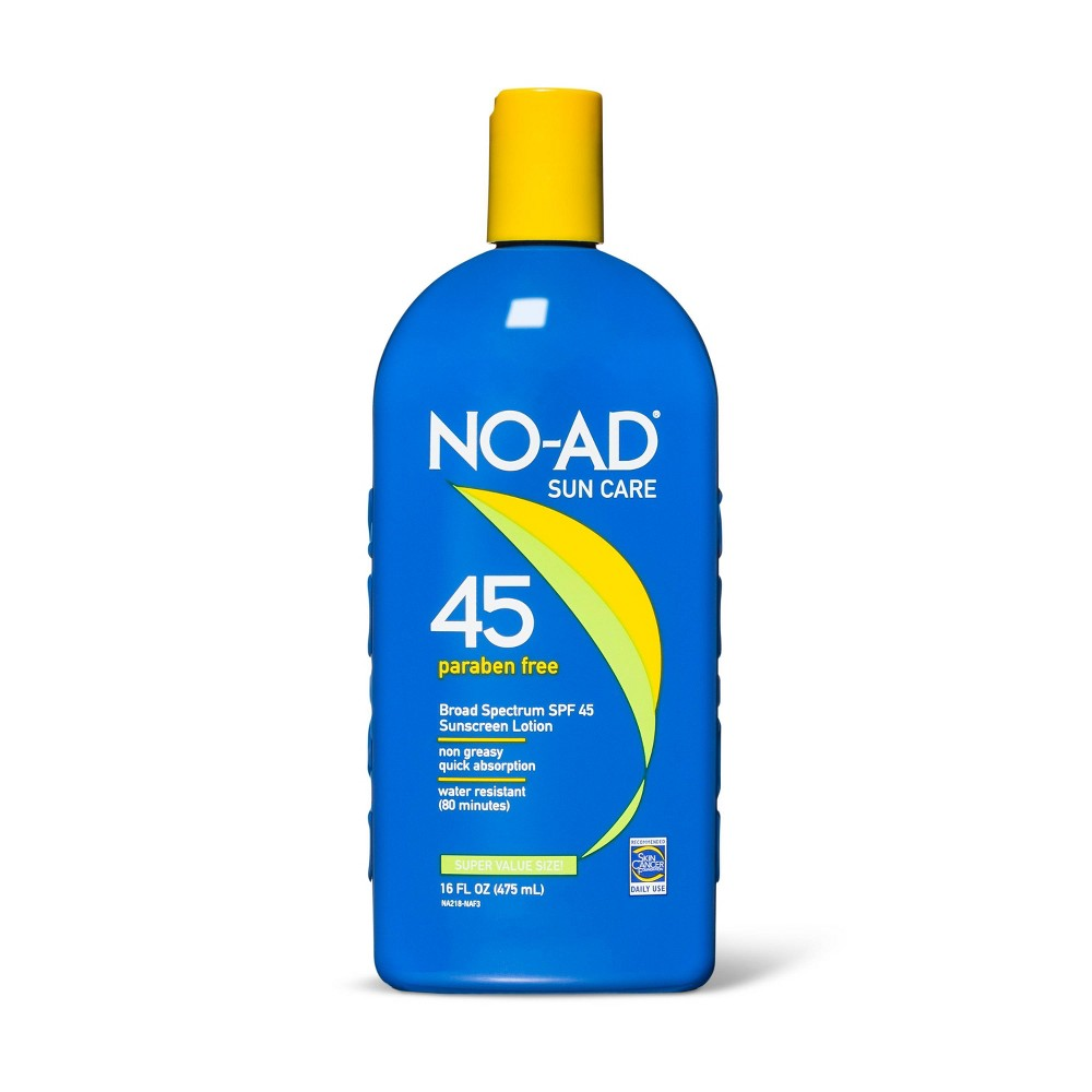 Image of NO-AD Broad Spectrum Sunscreen Lotion - SPF 45 - 16 fl oz