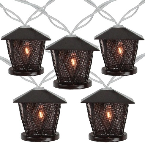 Northlight Set of 10 Candle Lantern Summer Garden Patio Lights - 7.16 ft White Wire - image 1 of 2