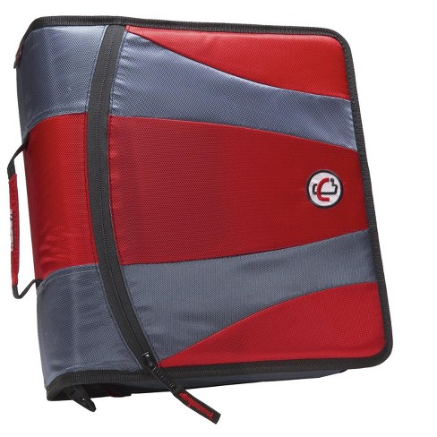 Case-it Dual Ring Zipper Binder, D-Ring, 2 Inches, Red - image 1 of 4