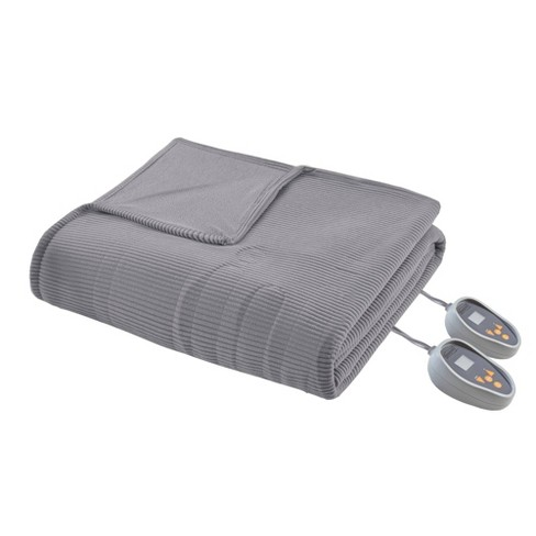 Knitted Electric Micro Fleece Heated Blanket - Beautyrest - image 1 of 4