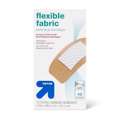 Extra Large Flexible Fabric Bandages - 10ct - up & up™