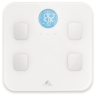 Bluetooth Body Composition Scale White - Weight Gurus
