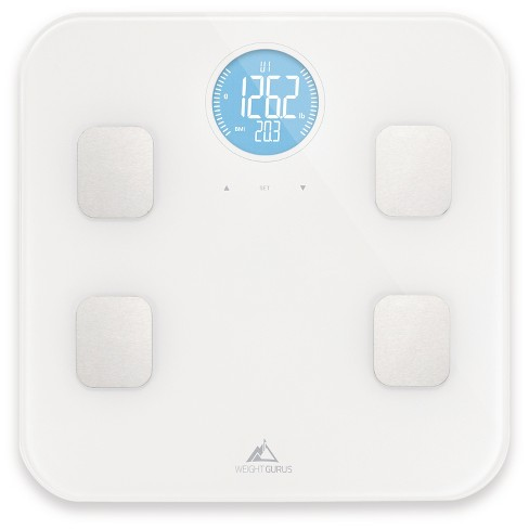 Bluetooth Body Composition Scale White - Weight Gurus - image 1 of 4