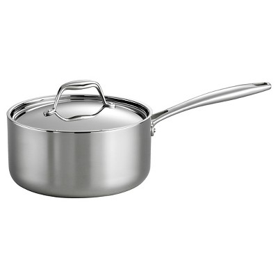 Tramontina Gourmet Tri-Ply Clad Induction-Ready Stainless Steel 3 QT. Covered Sauce Pan