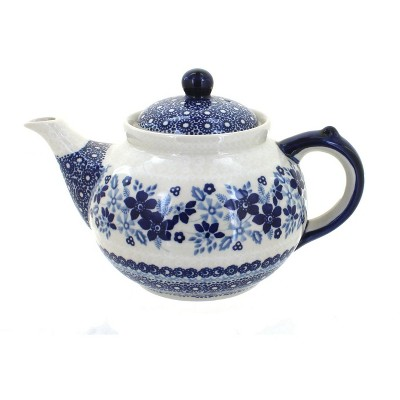 Blue Rose Polish Pottery Elizabeth Teapot