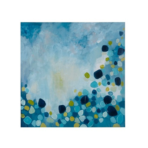 """Cool Bounce Hand Embellished Canvas Blue 37""""x37"""" - image 1 of 4"""
