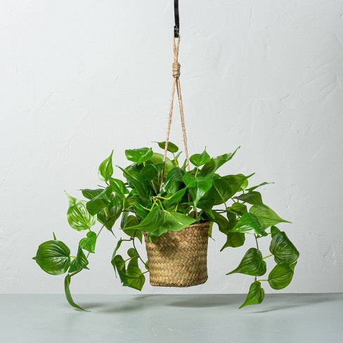 Faux Pothos Leaf Hanging Plant - Hearth & Hand™ with Magnolia - image 1 of 4