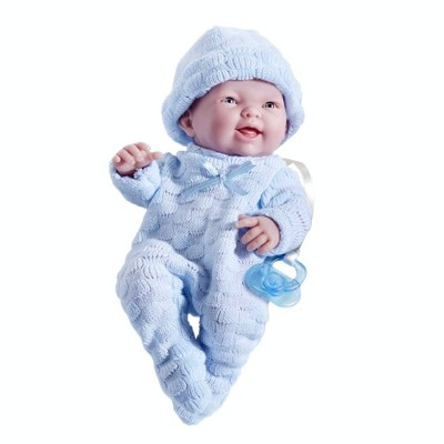"JC Toys Mini La Newborn Boutique 9.5"" Boy Doll - Blue"