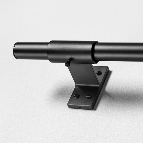 Steel Curtain Rod Matte Black - Hearth & Hand™ with Magnolia - image 1 of 4