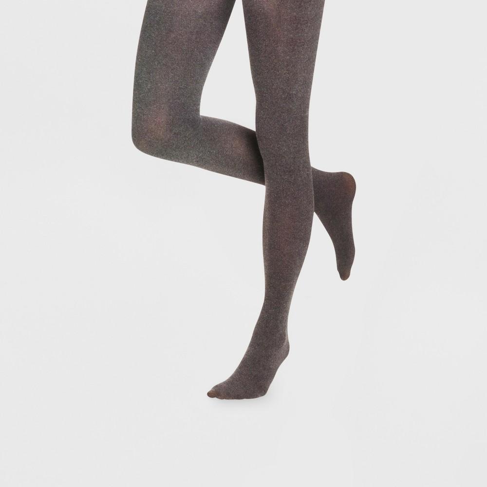 Image of Women's 40D Opaque Tights - Xhilaration Charcoal Heather 1X/2X, Women's, Size: 1XL/2XL, Grey Grey