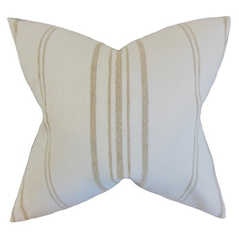"Natural Stripe Throw Pillow Art (18""x18"") - The Pillow Collection - image 1 of 2"