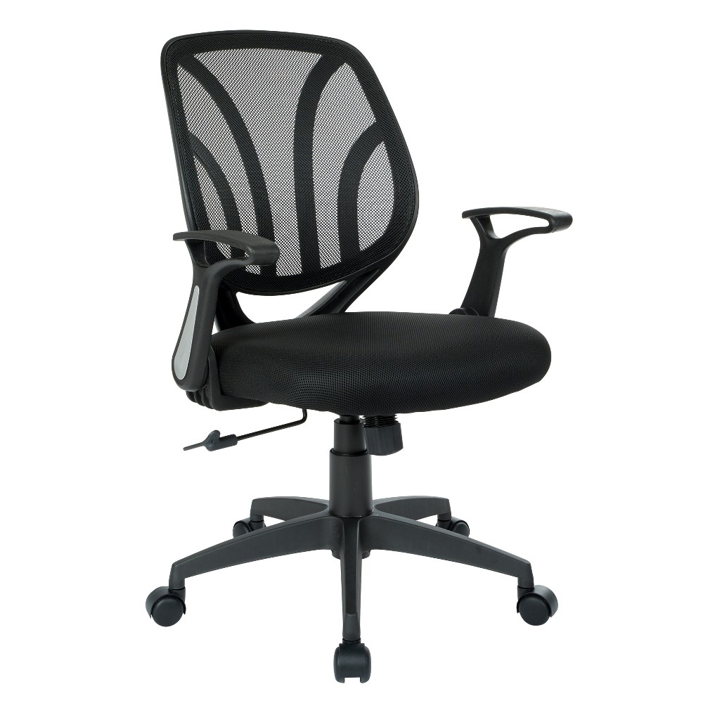 Screen Back Chair Black - Office Star