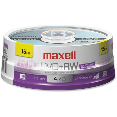 Maxell 4x DVD+RW Media - 120mm