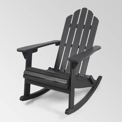 Hollywood Acacia Wood Adirondack Rocking Chair - Christopher Knight Home