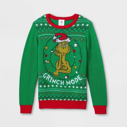 Kids' The Grinch Pullover Sweater - Green - image 1 of 3