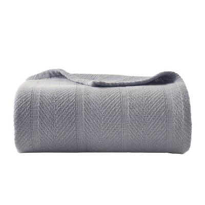 Herringbone Cotton Blanket - Eddie Bauer