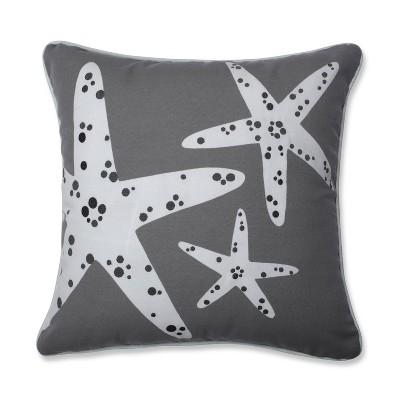 Stunning Starfish Throw Pillow Gray - Pillow Perfect
