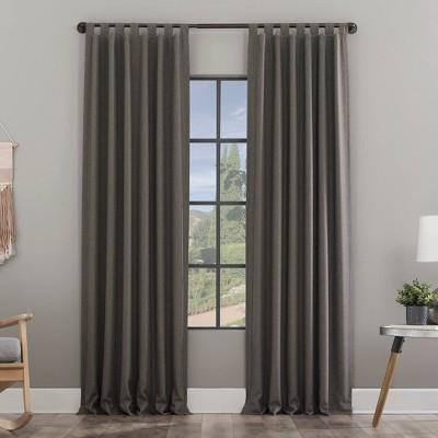 Heathered Textured Recycled Fiber Semi-Sheer Tab Top Curtain Panel - Clean Window