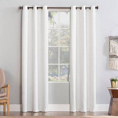 Matias Trellis Draft Shield Fleece Insulated Energy Saving Grommet Top Room Darkening Curtain Panel - No. 918