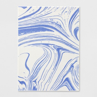 4'X5'6  Marble Tufted Accent Rug Blue - Room Essentials™