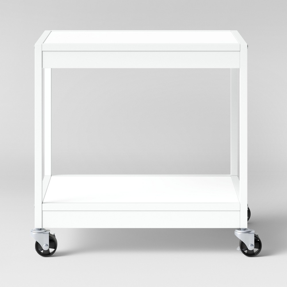 2 Tier Metal Utility Cart White - Room Essentials