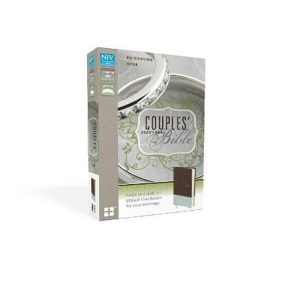 Couples' Devotional Bible-NIV - by Zondervan (Leather Bound)