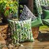 2pk Dupione Paradise Rectangular Throw Pillows Green - Pillow Perfect - image 2 of 2
