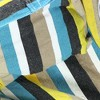 Ocean View Hammock Swing with Pillows and Stand - Blue/Yellow Stripe - Sunnydaze Decor - image 4 of 4