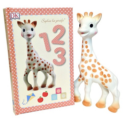 Sophie la Girafe Toy and 1,2,3 Book