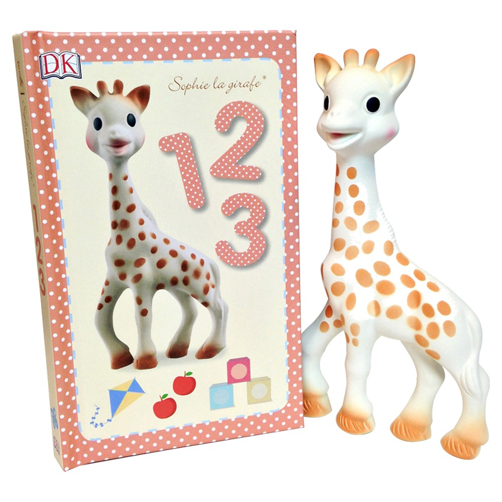 Sophie la Girafe Toy and 1,2,3 Book, Multi-Colored