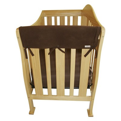 Trend Lab Set of Two Fleece 27  Side Rail Cover for Convertible Crib - Brown