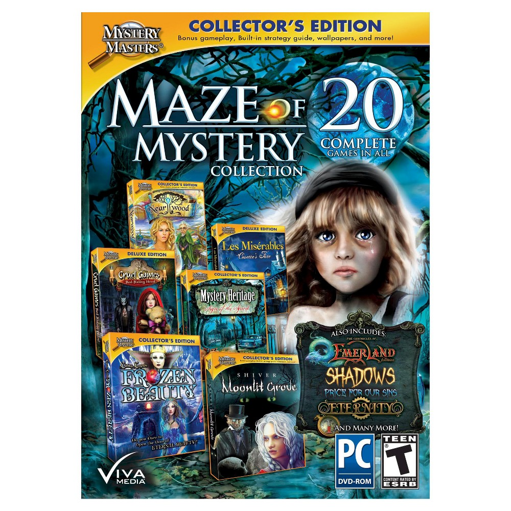 Mystery Masters: Maze of Mystery 20pk PC Games Computer gaming just got a whole lot more awesome now that the uber-exciting Mystery Masters: Maze of Mystery 20 Pack (PC Games) has come along. In this day and age, video gaming has gone way beyond the passing fad it used to be - think corner arcades from the early 1970s. Computer games are now an intrinsic part of everyday life all over the world and guess what, studies show they're good for you too. Yeah, you heard that right. Computer games help boost memory, increase coordination, improve cognitive thinking, sharpen decision making skills, and reduce stress. Oh, and they're super-fun too. Game on!