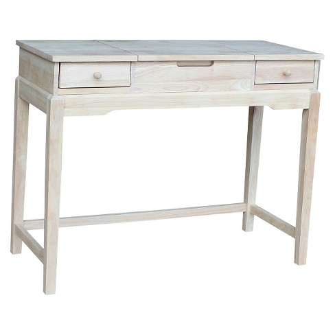 Vanity Table Unfinished - International Concepts - image 1 of 2