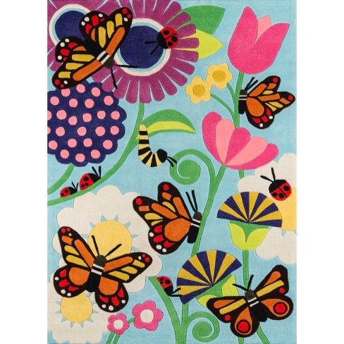 Butterfly Blossoms Rug - image 1 of 6