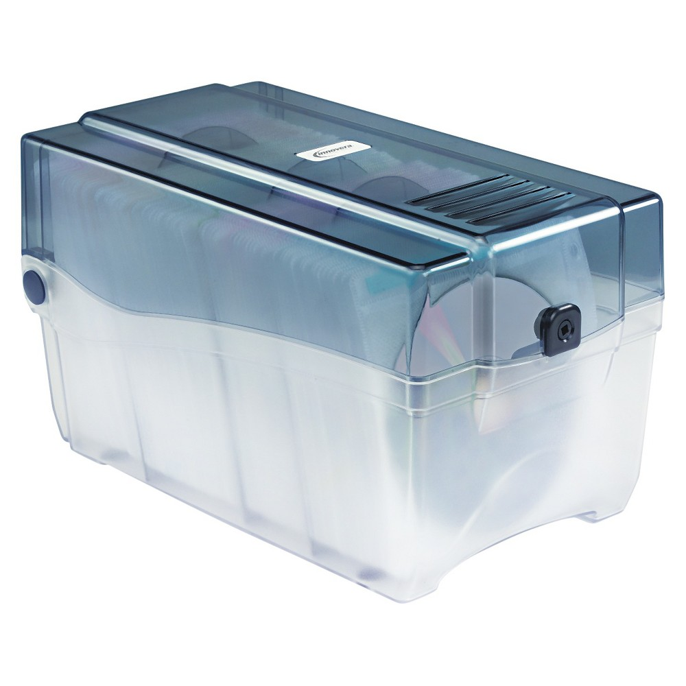 Image of Innovera CD/DVD Storage Case - Holds - 150 Discs, Clear