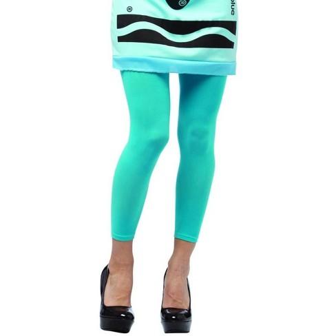 Rasta Imposta Crayola Sky Blue Footless Tights Costume Accessory Adult - image 1 of 1