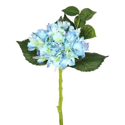 "Artificial (Pk/3) Short Stem Hydrangea (15"") Blue - Vickerman"