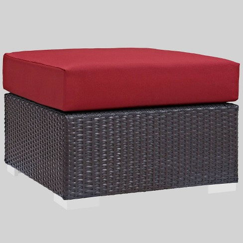 Convene Outdoor Patio Fabric Square Ottoman - Modway - image 1 of 2