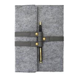 Fabric Snap Closure Lined Journal Gray - Gartner Studios