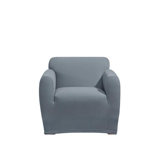 Tremendous Storm Blue Stretch Morgan Chair Slipcover Sure Fit Unemploymentrelief Wooden Chair Designs For Living Room Unemploymentrelieforg