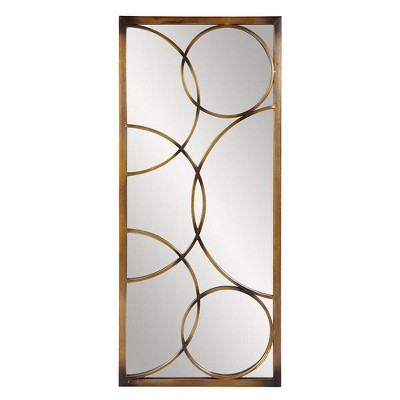 Rectangle Brittany Decorative Wall Mirror Brown - Howard Elliott