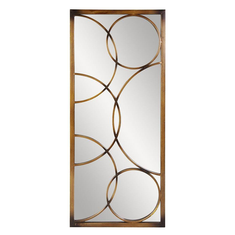 Image of Rectangle Brittany Decorative Wall Mirror Brown - Howard Elliott
