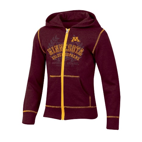 Minnesota Golden Gophers Girls' Long Sleeve Full Zip Hoodie - image 1 of 1