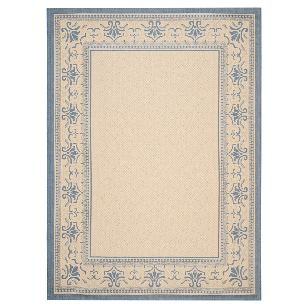 9' x 12' Alicante Outdoor Rug Natural/Blue - Safavieh