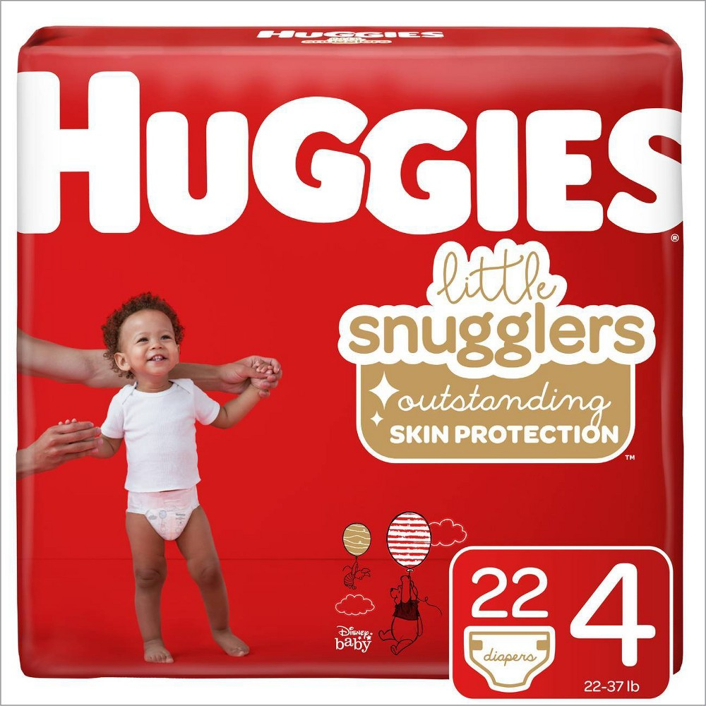 Huggies Little Snugglers Diapers Jumbo Pack - Size 4 (22ct)
