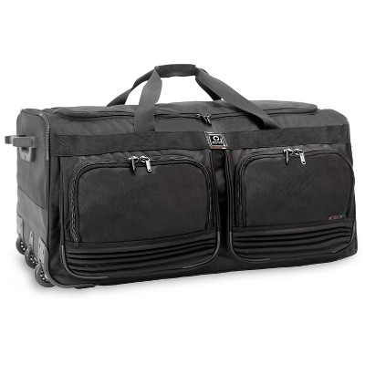 J World Brighton Rolling Duffel Bag - Black