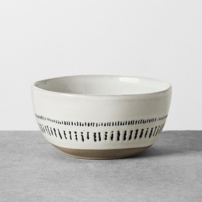 Dessert Bowl Stoneware Black / White - Hearth & Hand™ with Magnolia