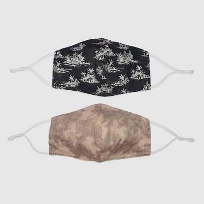 2pk Men's Fabric Face Masks - Goodfellow & Co™ Camo/Black
